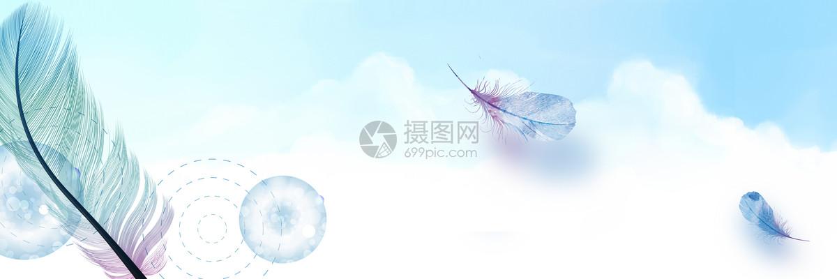 清新羽毛背景图片
