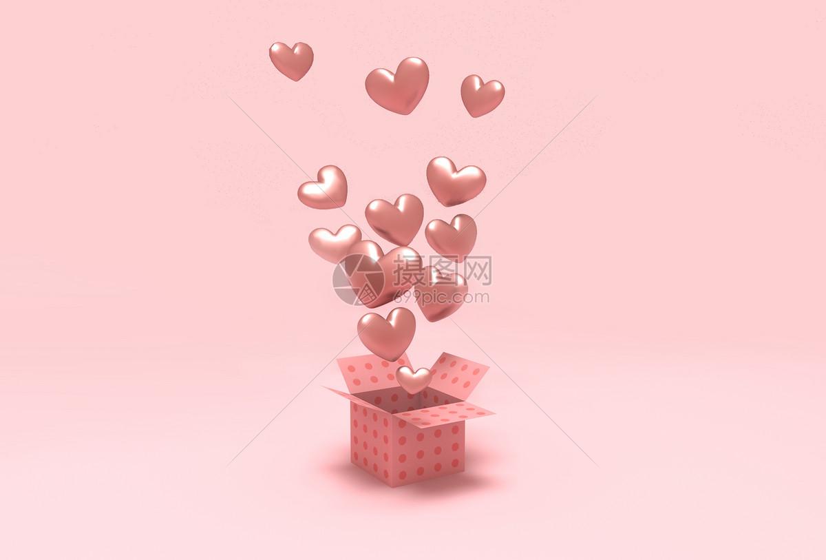 爱心浪漫背景图片