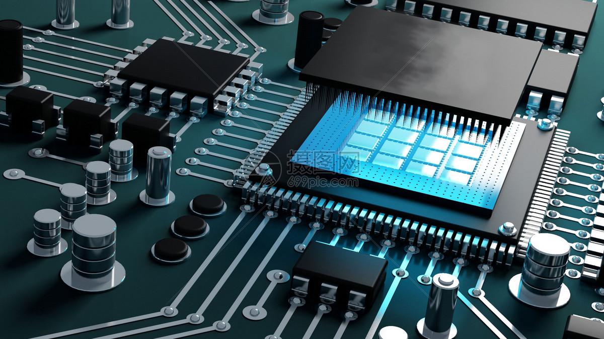 科技芯片电路背景