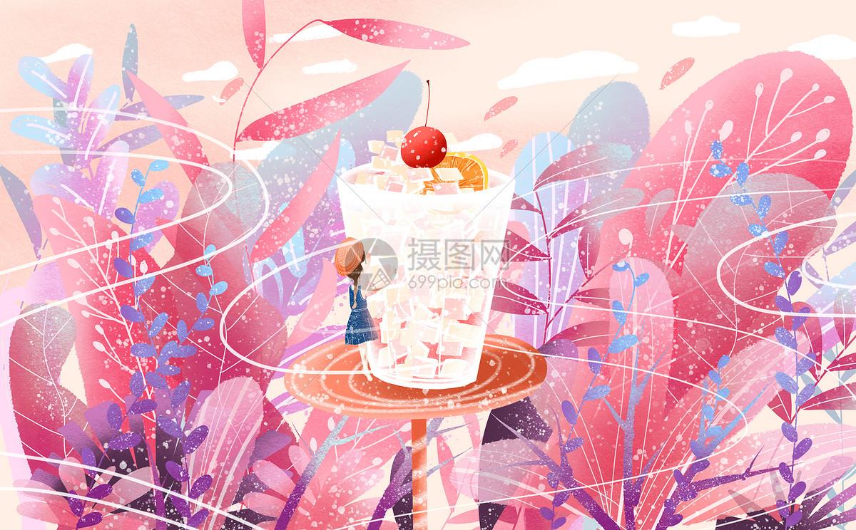 夏日 冰饮图片