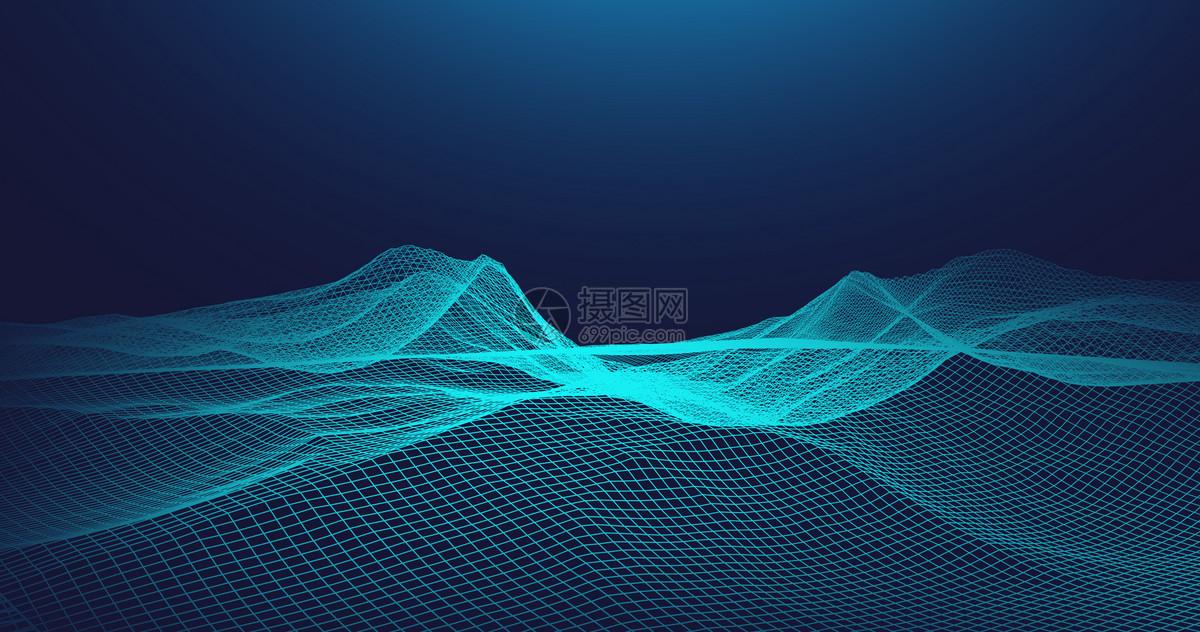 科技线条空间背景图片
