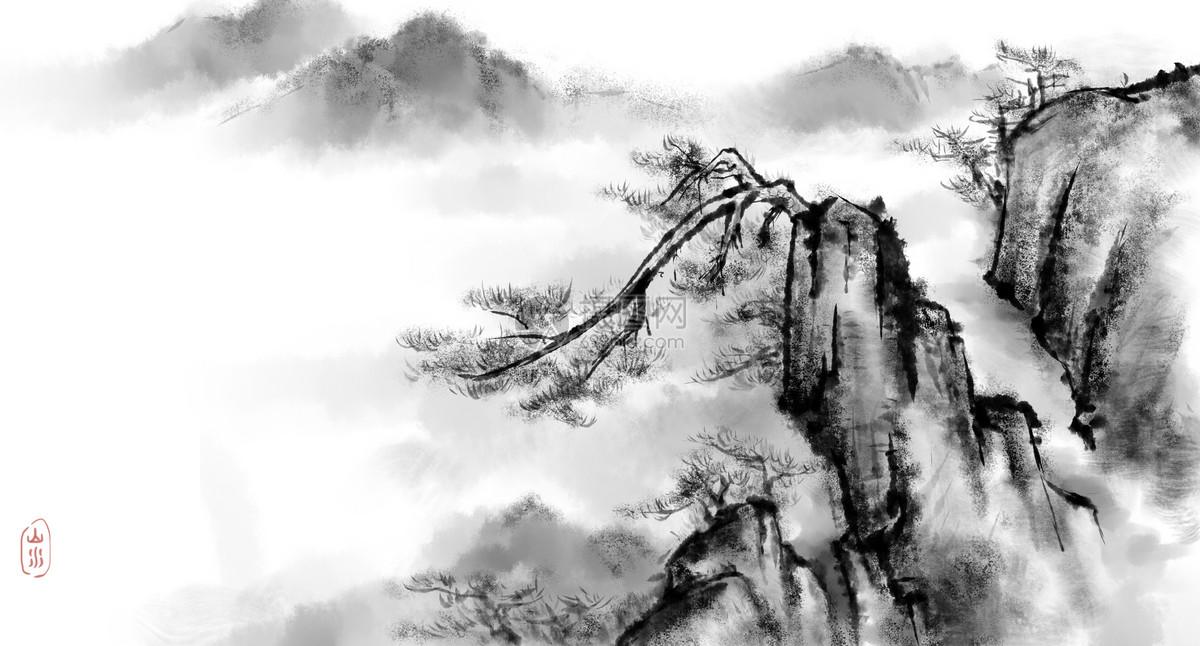 古风山水风景