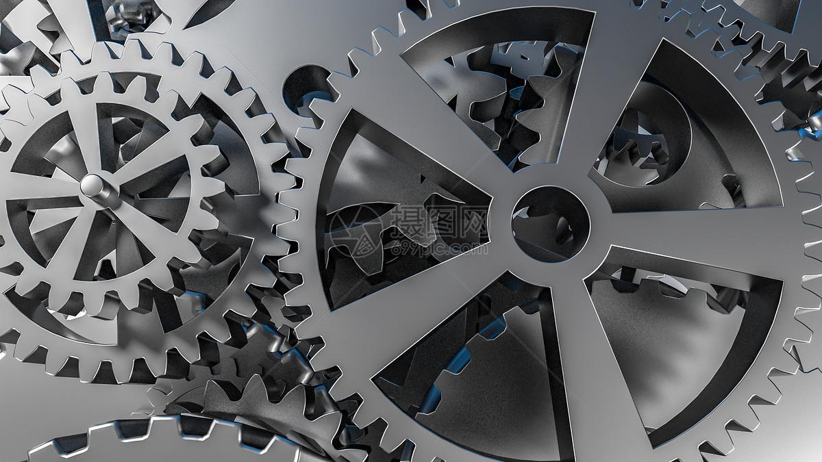 3D机械齿轮图片