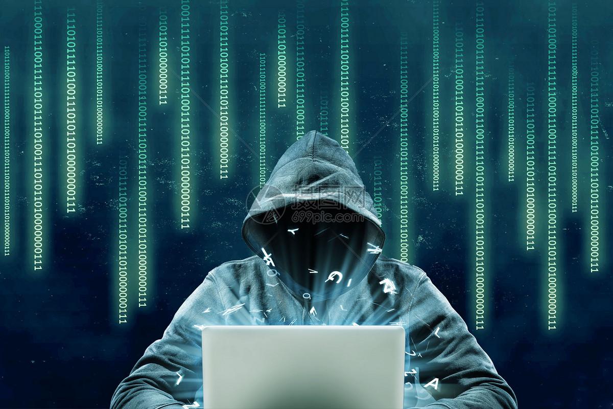 黑客袭击图片