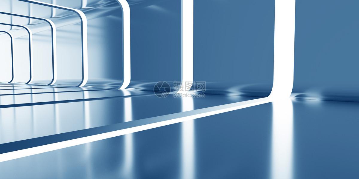 蓝色科技空间图片