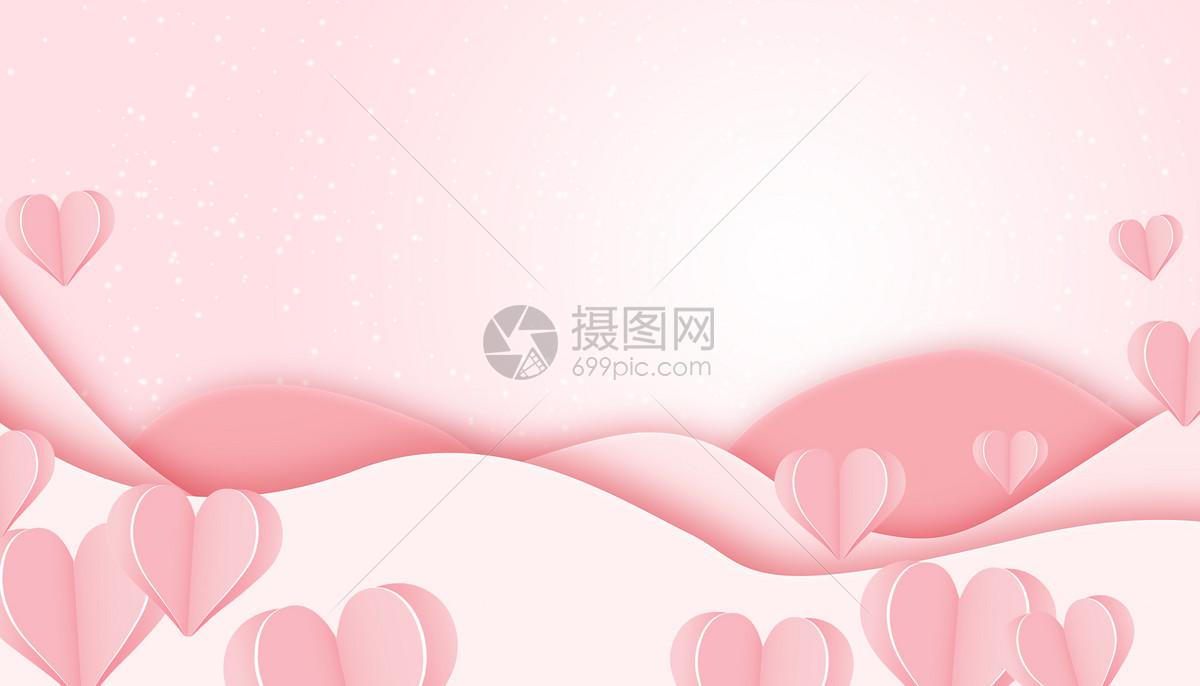 粉色七夕背景图片