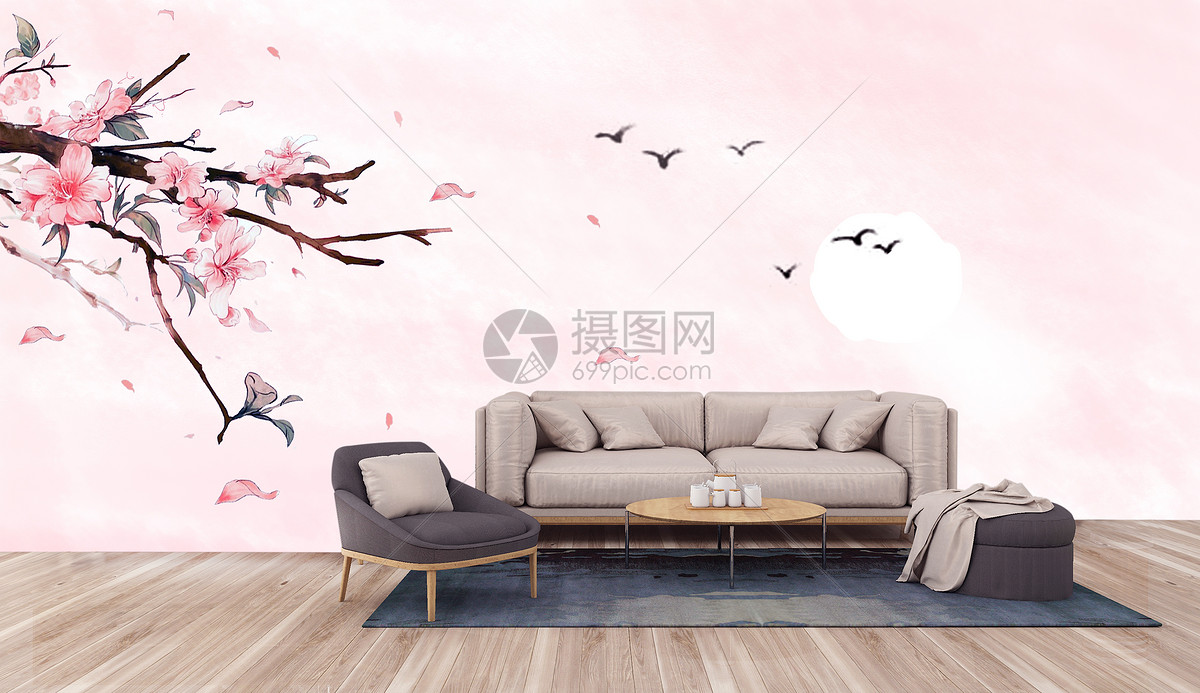 中国风电视背景墙图片