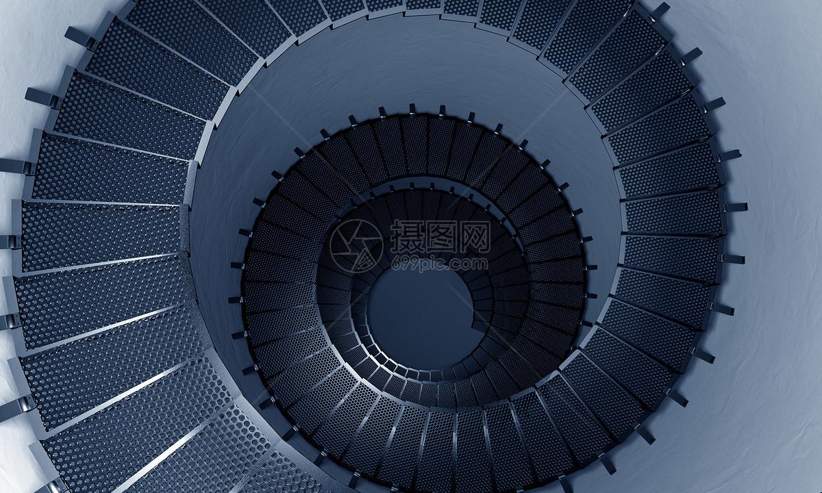 旋转楼梯场景图片