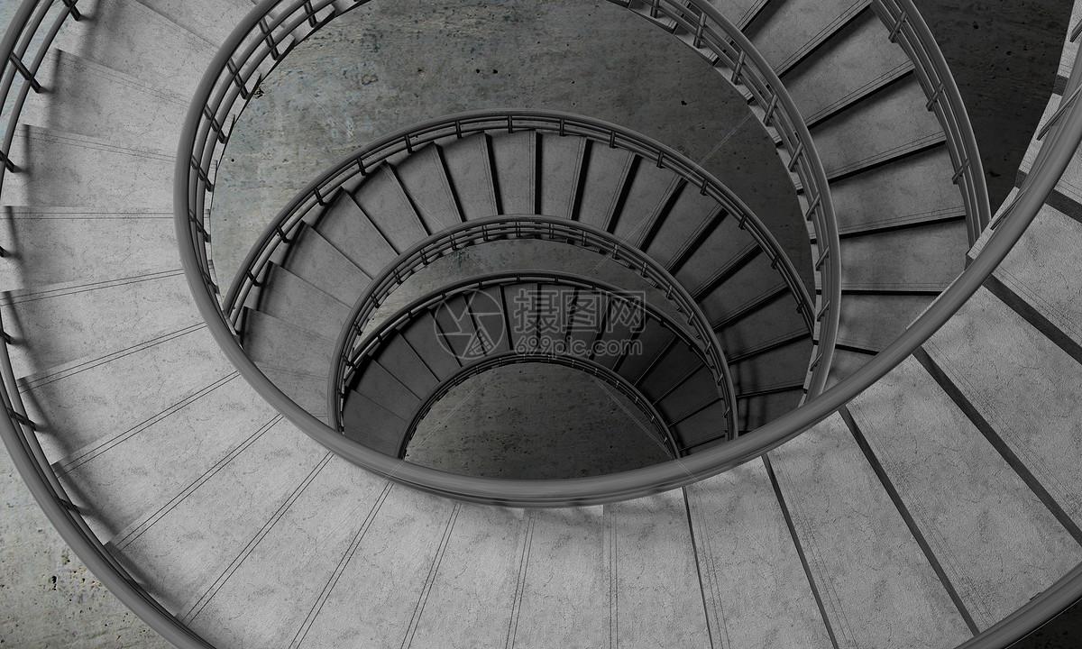旋转楼梯空间图片