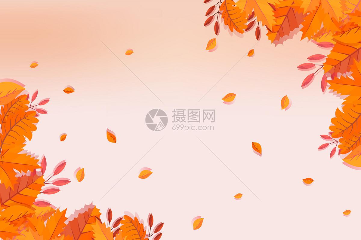 秋天叶子背景图片