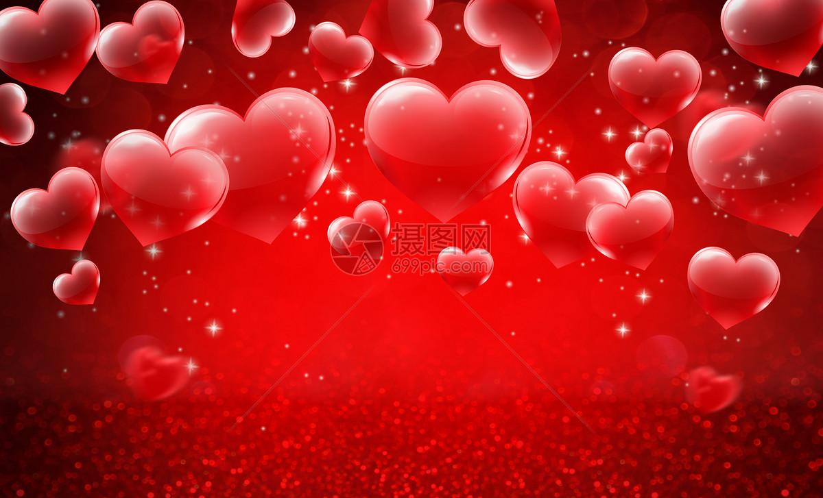 浪漫爱心场景图片