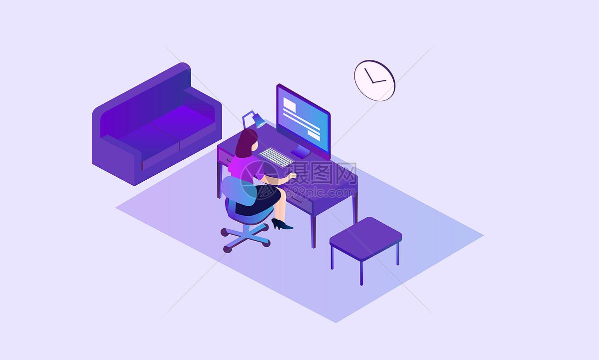 商务办公插画图片