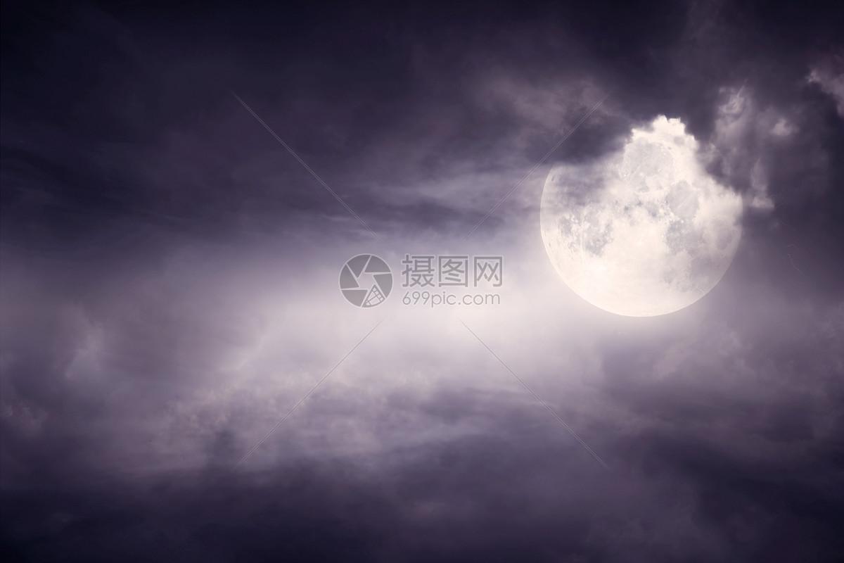 夜晚月亮图片