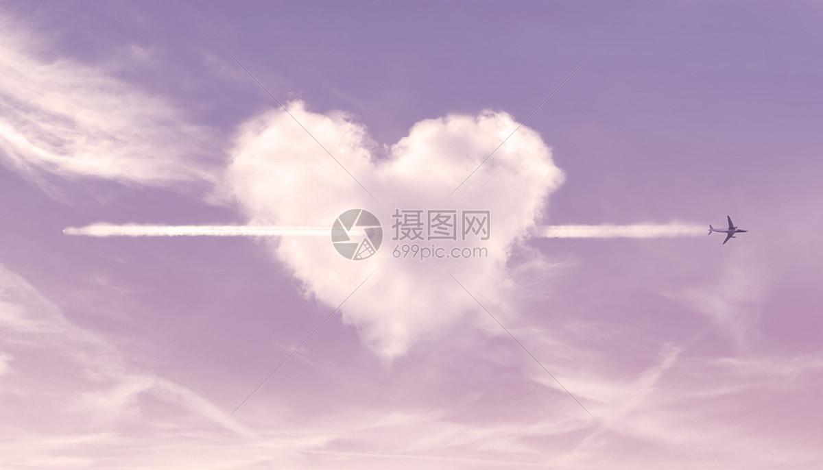 创意爱情云朵图片