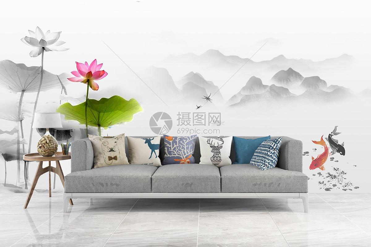 中国风背景墙图片