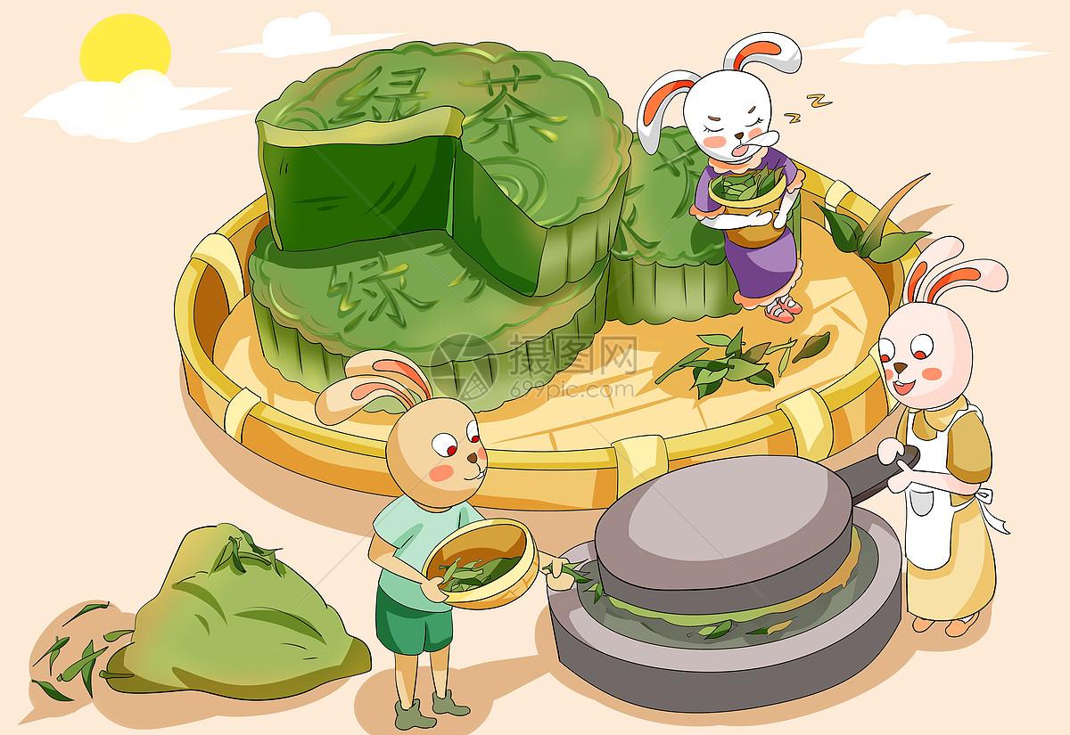 绿茶月饼图片
