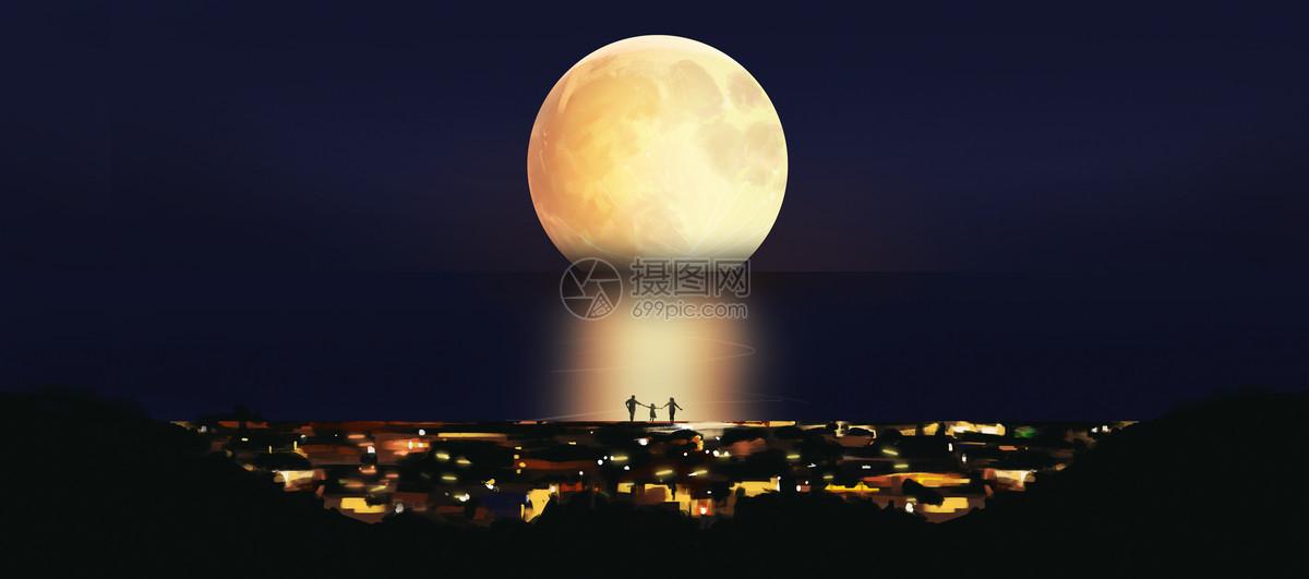 海上明月图片