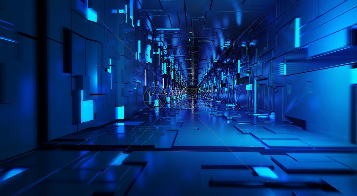科技隧道空间图片