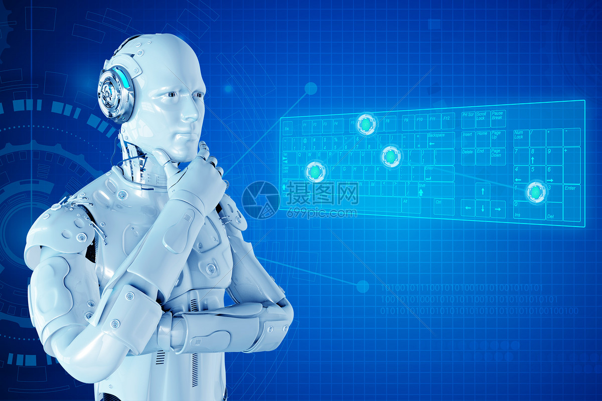 思索的人工智能图片