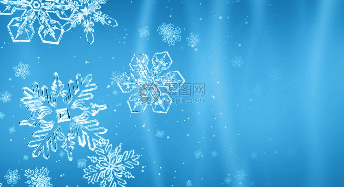 创意雪花背景图片