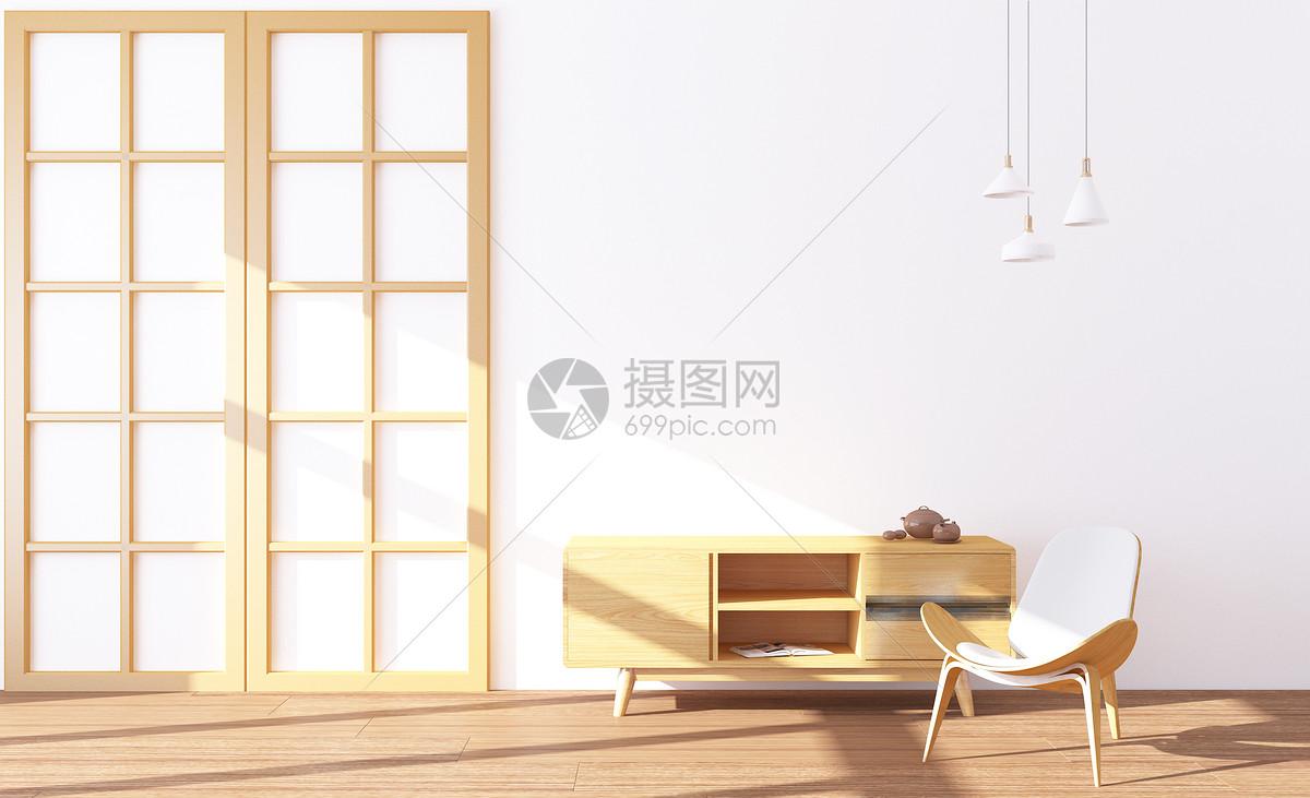 木色家居场景图片