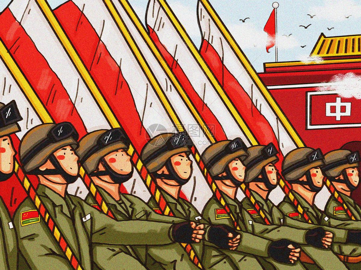 国庆阅兵图片