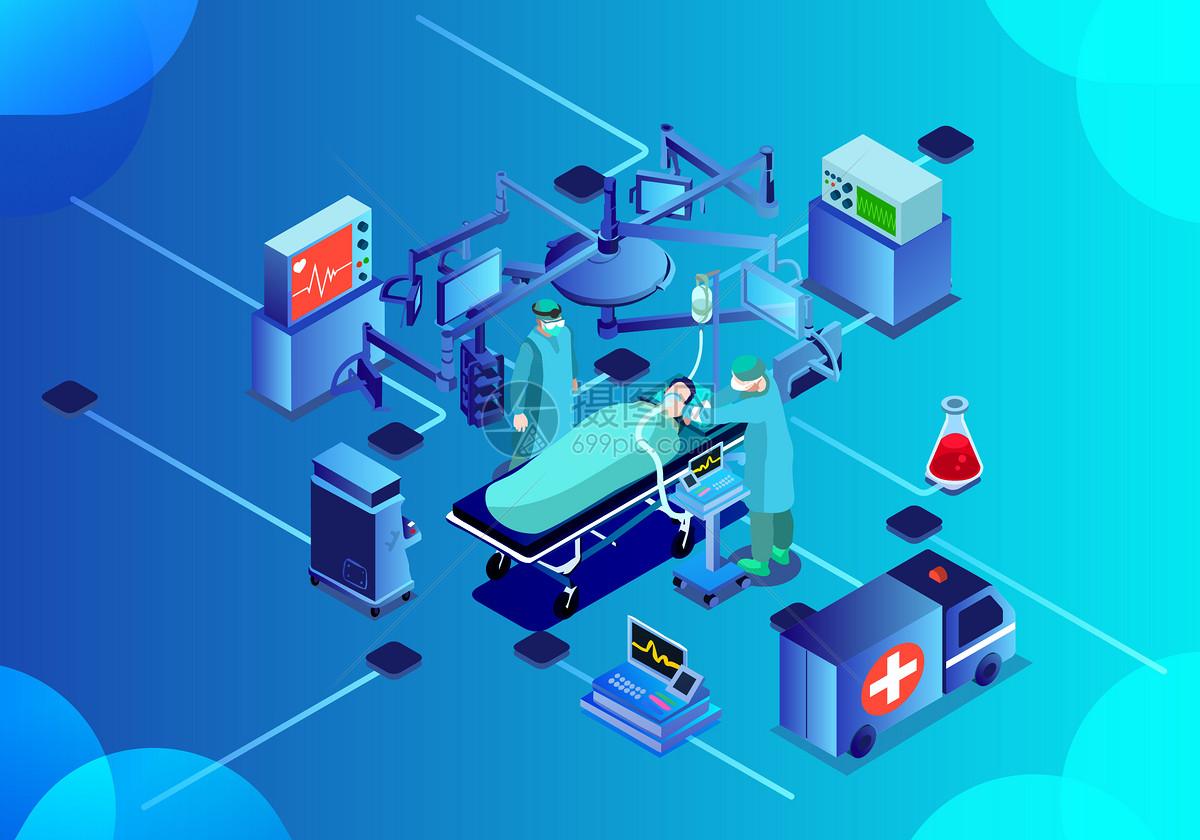 25D科技医疗立体插画图片