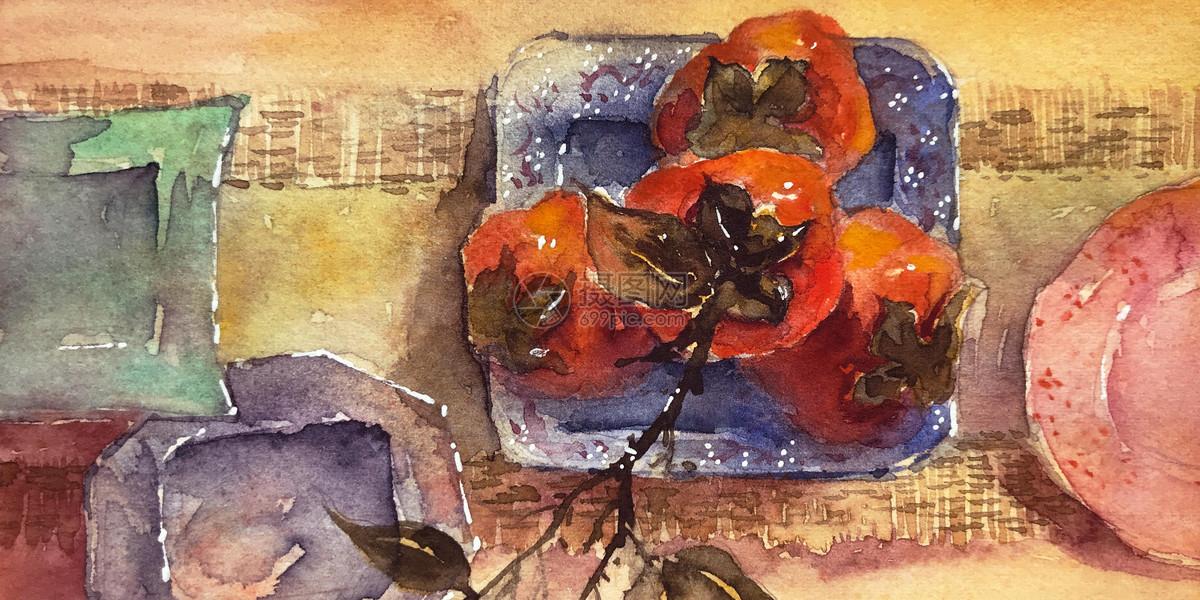 霜降柿子图片