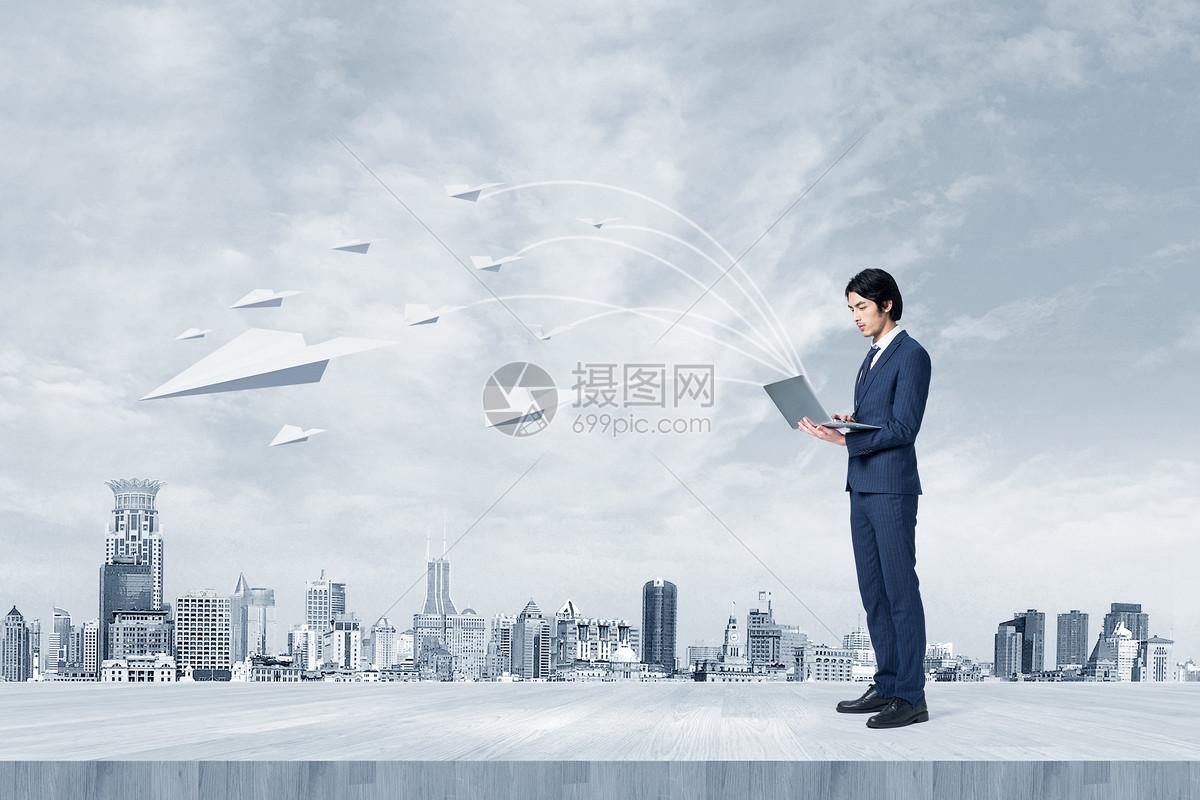 商务纸飞机图片