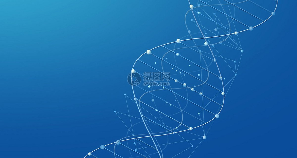 DNA线条科技背景图片