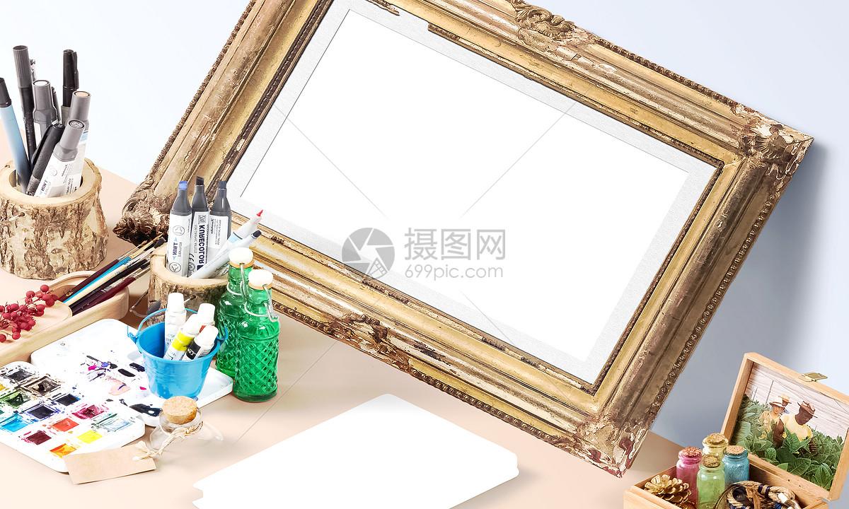 现代画框样机图片