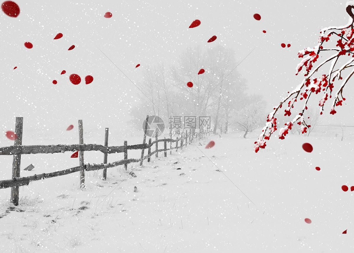 风雪天气背景图片