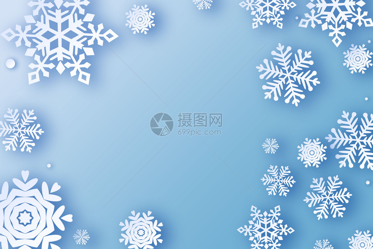 雪花场景图片