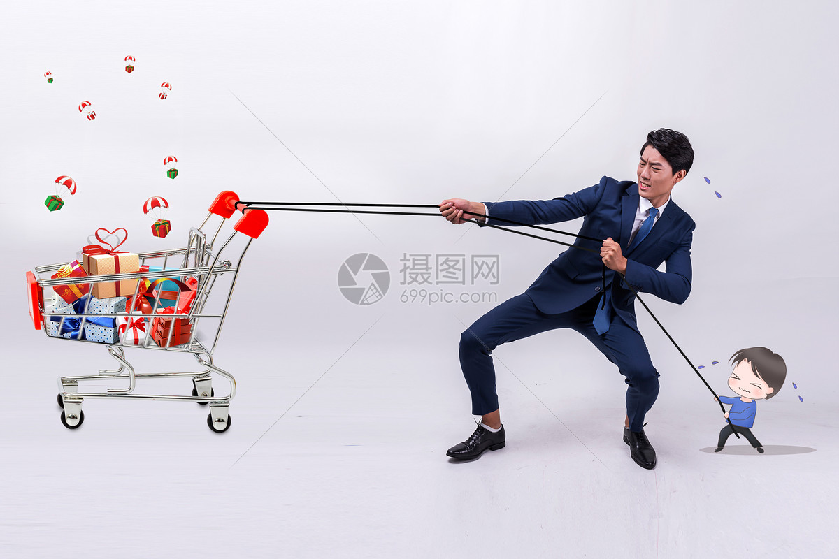 购物人物图片