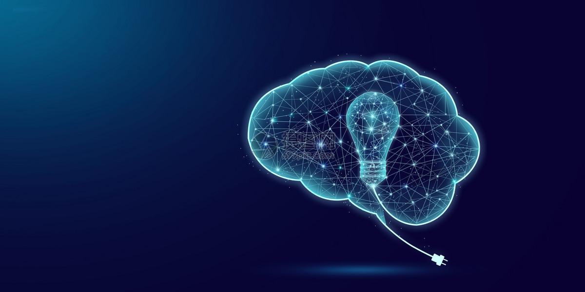 创意大脑灯泡图片