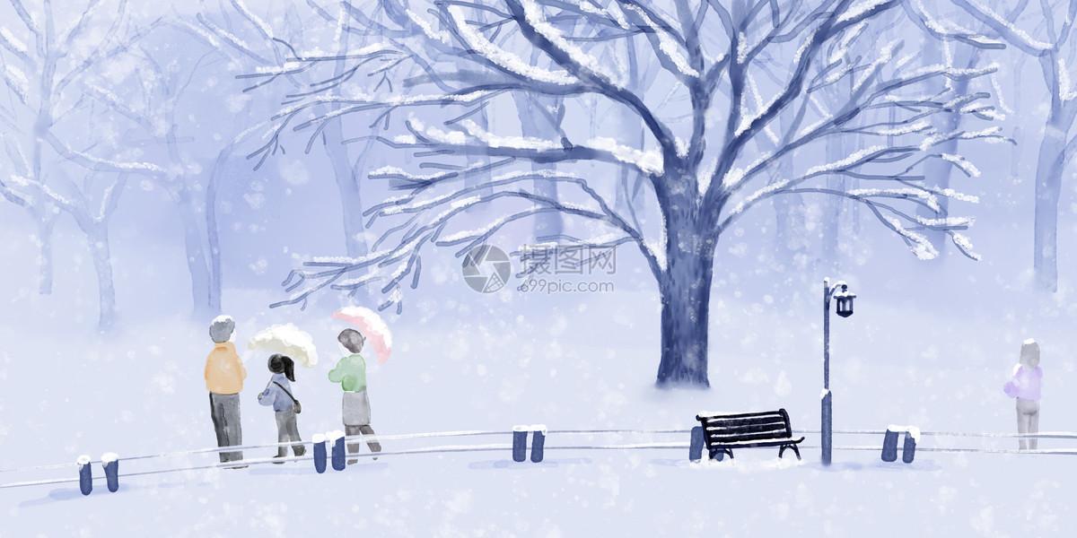 冬季赏雪图片