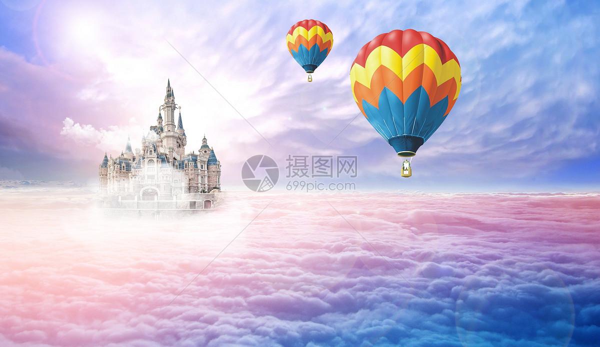 乘着热气球旅行图片