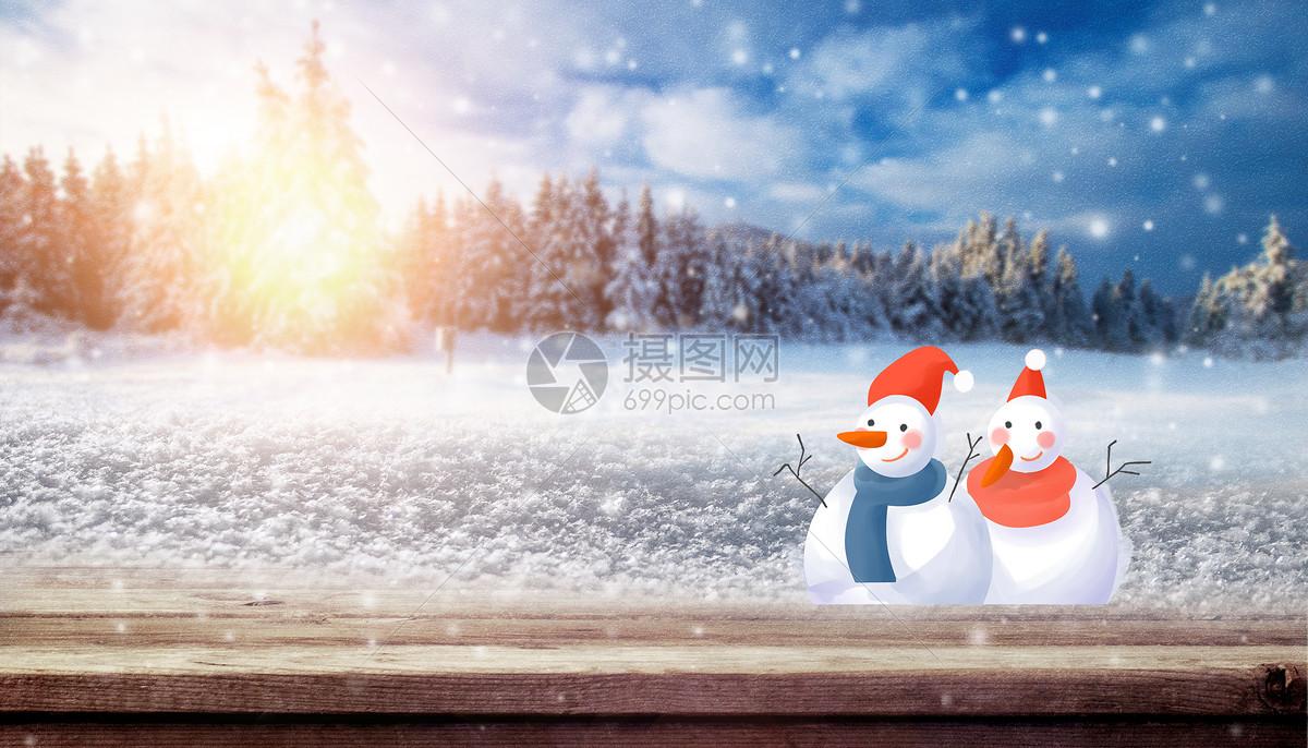 冬季雪花场景图片