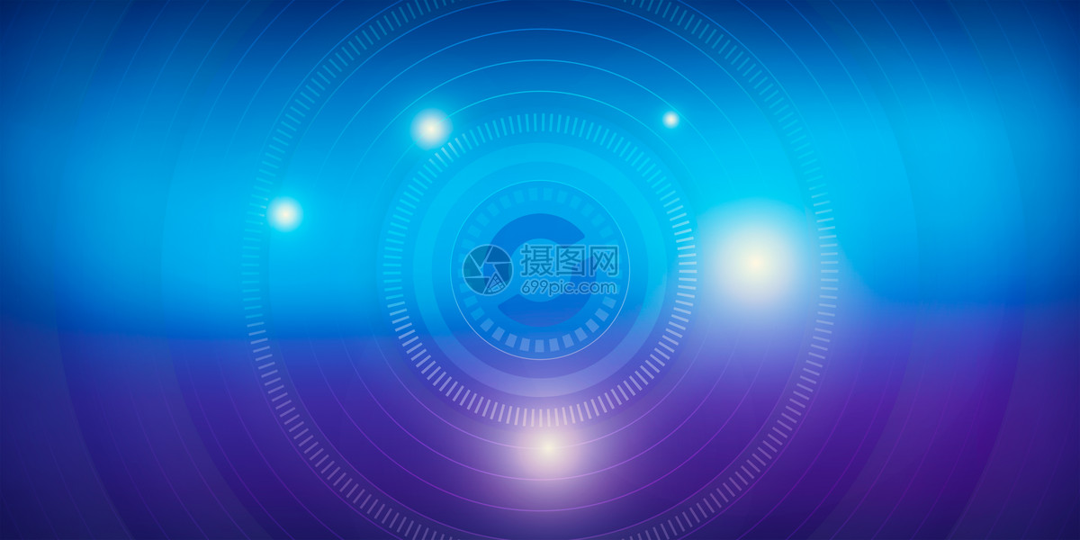 炫酷蓝色科技背景图片