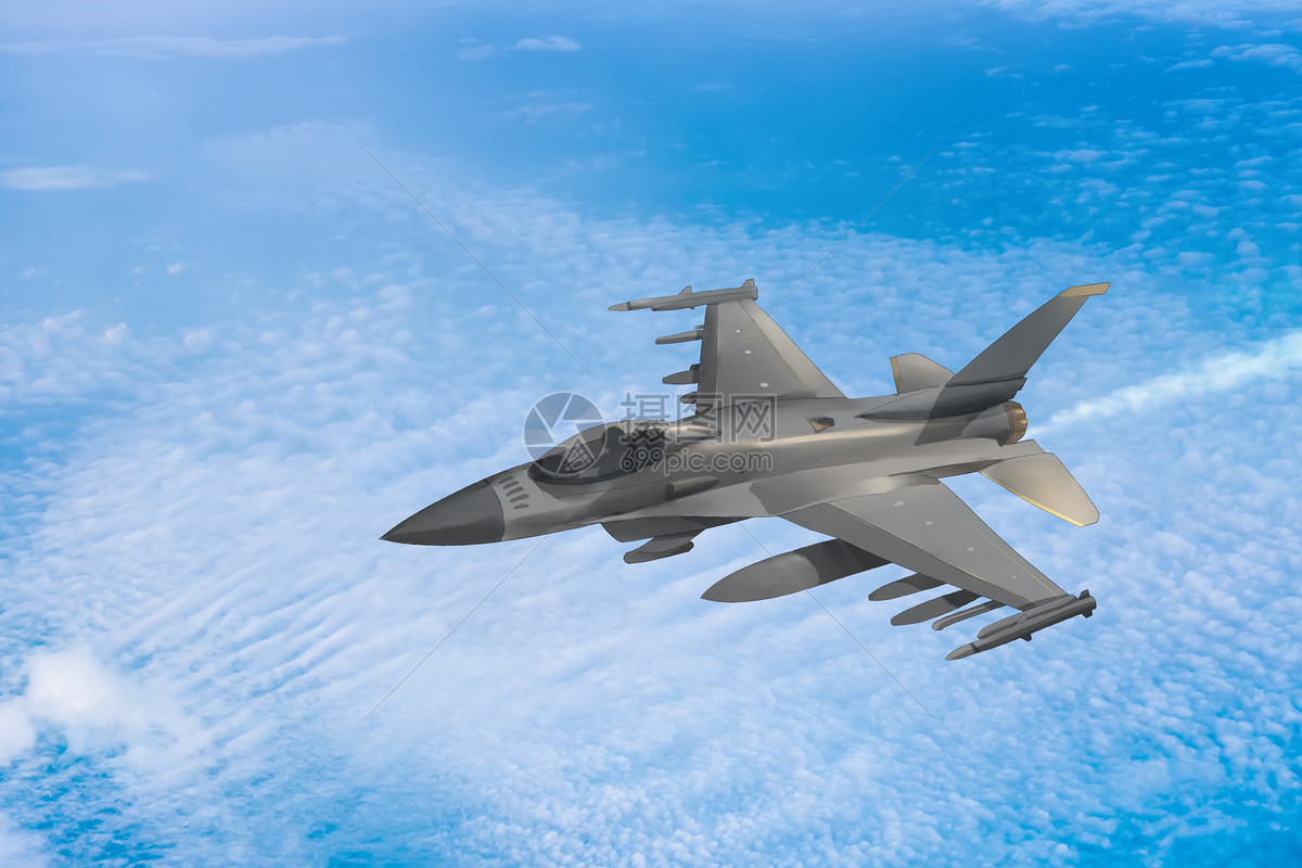 战斗飞机场景图片