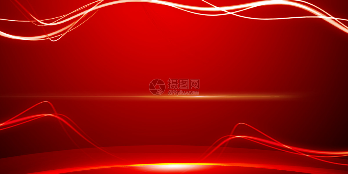红色企业年会风图片