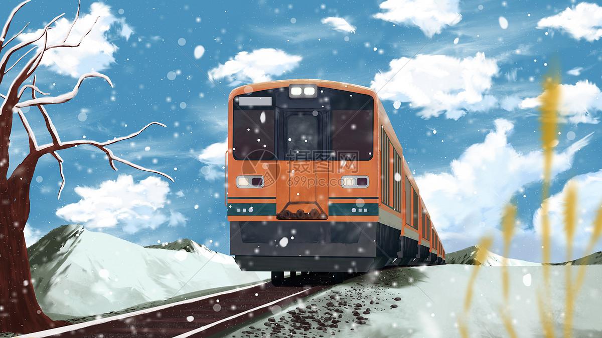 雪乡列车图片