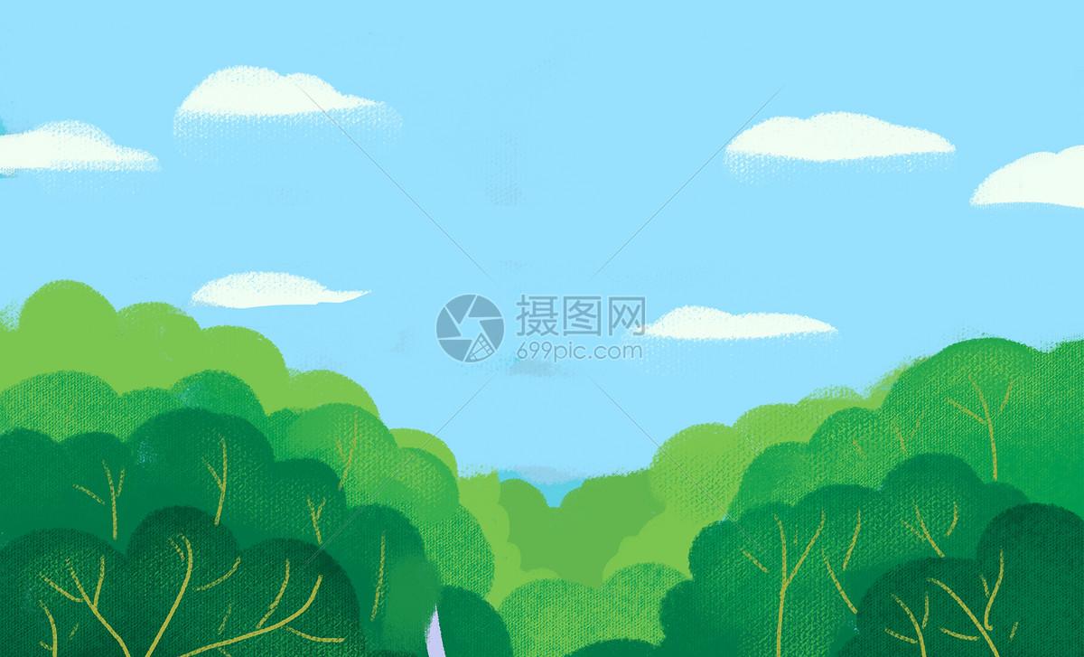 绿色植物插画图片