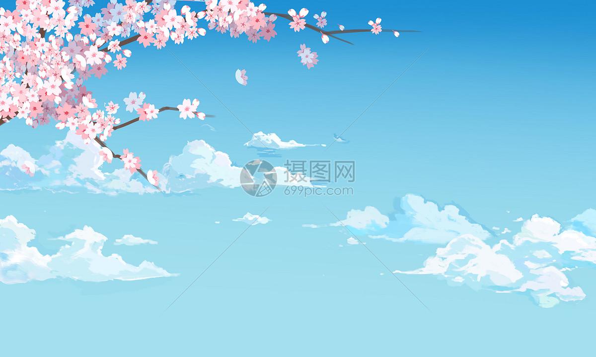 春天樱花背景图片