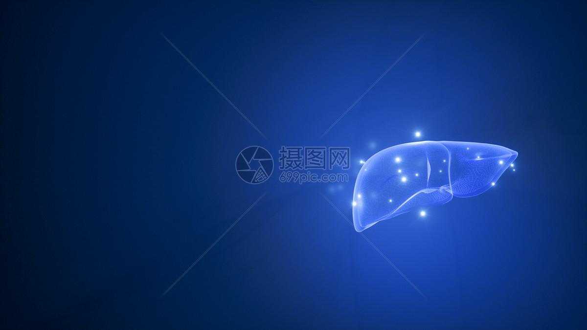 医疗肝脏创意场景图片