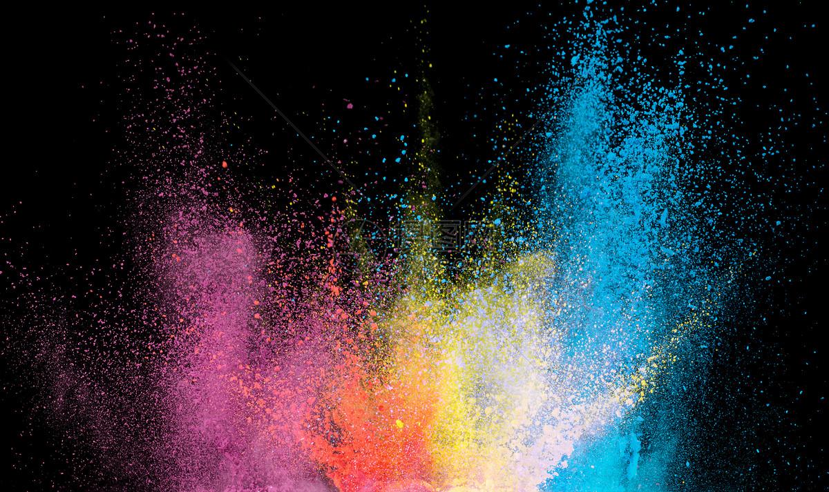 彩色粉末喷溅图片