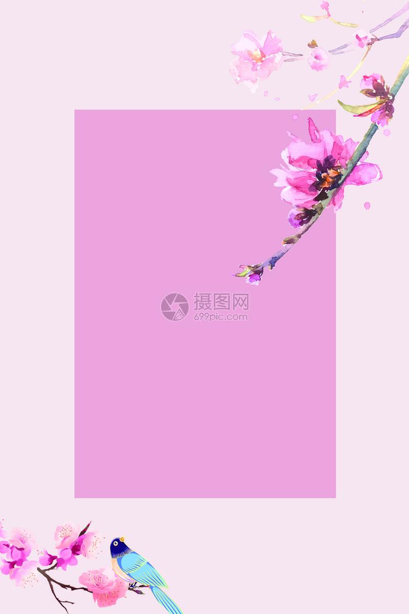 粉色春天背景图片