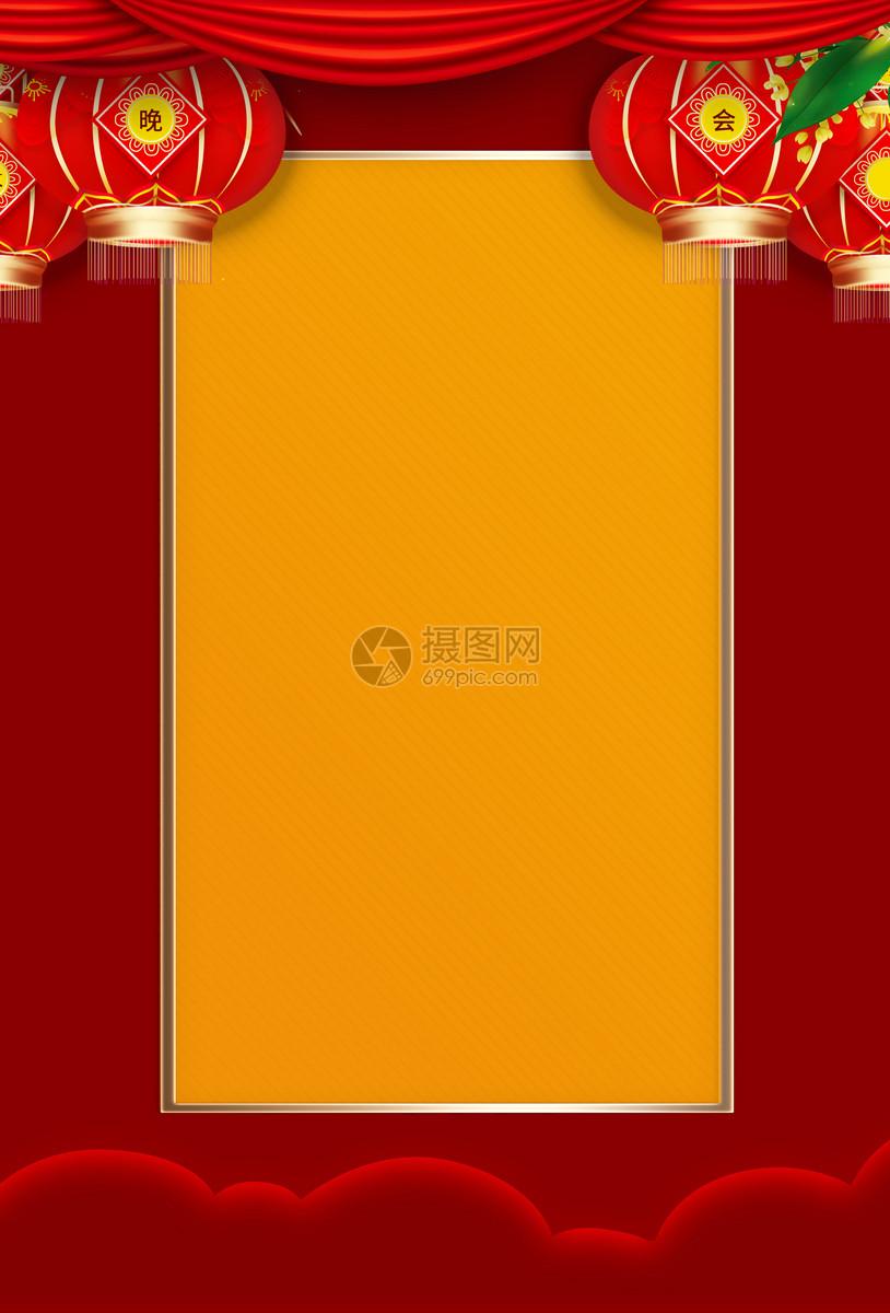 红色新年背景图片