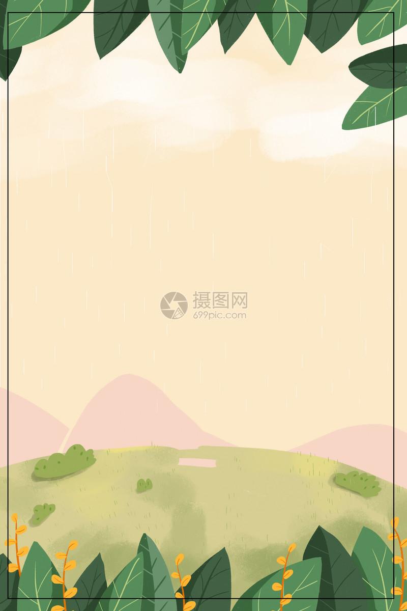 绿色树叶背景图片