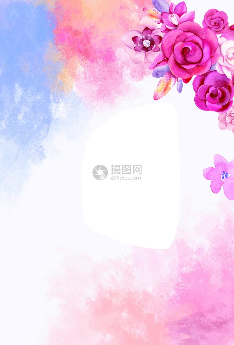 唯美鲜花背景图片